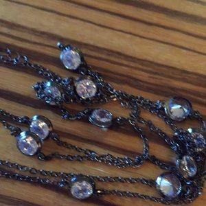Jewelry - Tiffany type diamonds by the yard necklace